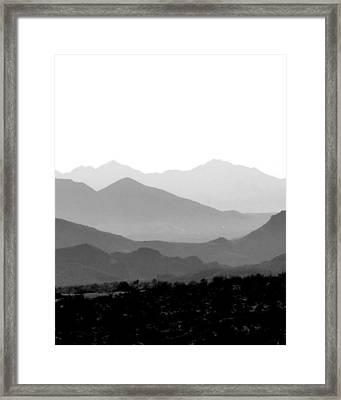 Sunset On Arizona Mountains Framed Print by Joe Johansson