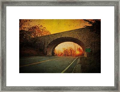 Sunset On Blue Ridge Parkway Framed Print by Kathy Jennings