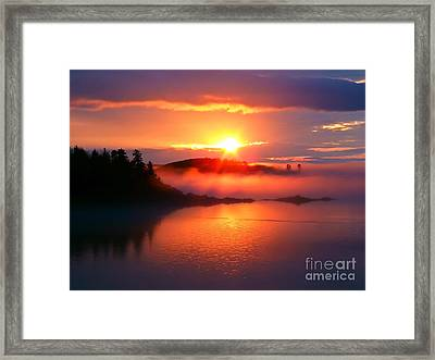 Sunset On Campobello Island  Framed Print by Edward Fielding