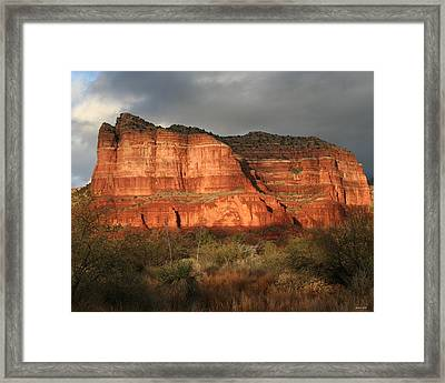 Sunset On Courthouse Butte Framed Print by Jimmy Fox