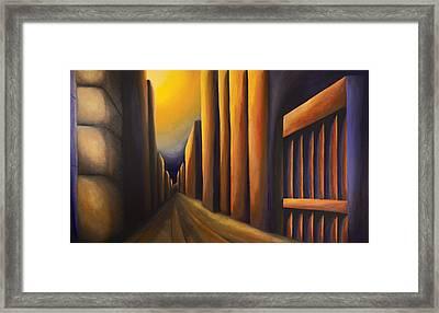 Sunset On De Maisonneuve Framed Print by Duane Gordon