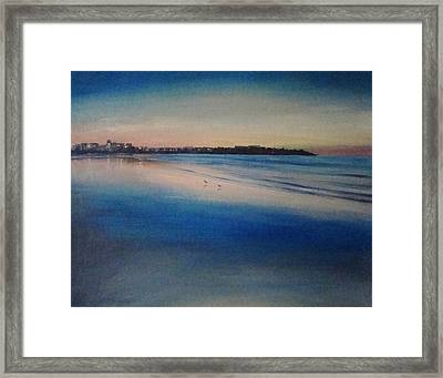Sunset On Hampton Beach Framed Print by Mark Haley