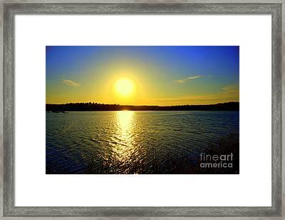 Sunset  On Horn Pond Framed Print