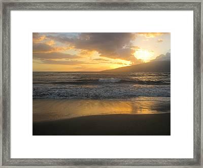 Sunset On Maui Framed Print