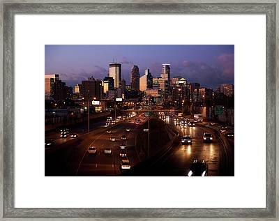 Sunset On Minneapolis Framed Print