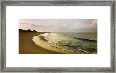 Sunset On Plum Island Framed Print by Karen Lynch