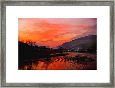 Sunset On Rhine Framed Print