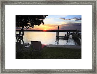 Sunset On Shinn Creek - 1 Framed Print by Alan Hausenflock