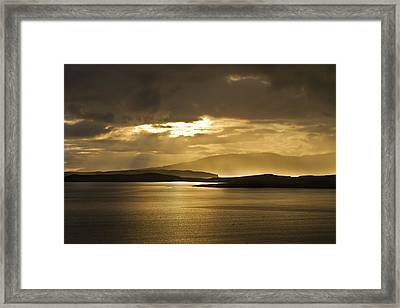 Sunset On Skye Framed Print