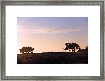 Sunset On Spyglass Framed Print by Gerry Fortuna