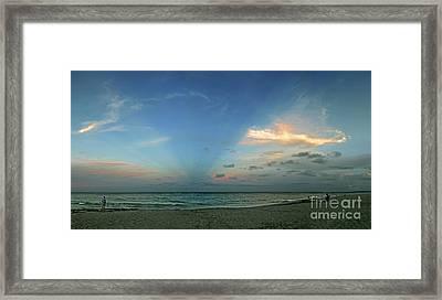 Sunset On The Atlantic Ocean Framed Print by Richard Nickson