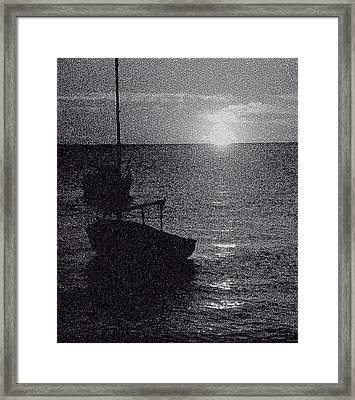 Framed Print featuring the digital art Sunset On The Bay by Michael Friedman