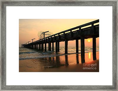 Sunset On The Beach Framed Print by Suwit Ritjaroon
