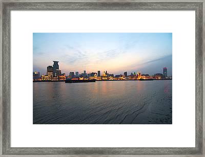 Sunset On The Bund Framed Print by Photo by Svend Erik Hansen