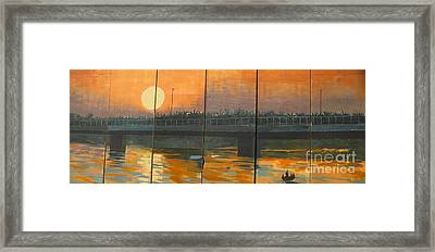 Sunset On The Canals Framed Print by Unknown - Local Iraqi National