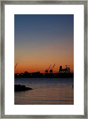 Sunset On The Detroit River 2 Framed Print