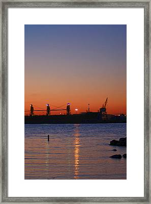Sunset On The Detroit River Framed Print