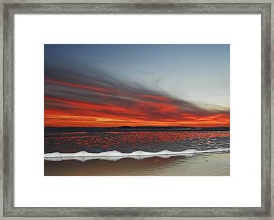 Sunset On The Edge Framed Print