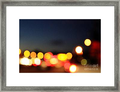 Sunset On The Golden Gate Bridge Framed Print by Linda Woods