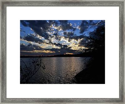 Sunset On The Lake Framed Print by Timothy Johnson