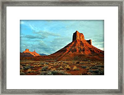 Sunset On The Mesa Framed Print by Marty Koch