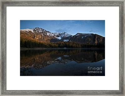 Sunset On The Mountains Framed Print by Jeff Kolker