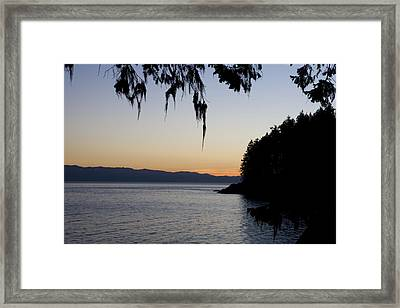 Sunset On The Pacific Coast Framed Print by Taylor S. Kennedy