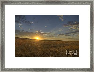 Sunset On The Prairie Framed Print by Jim and Emily Bush