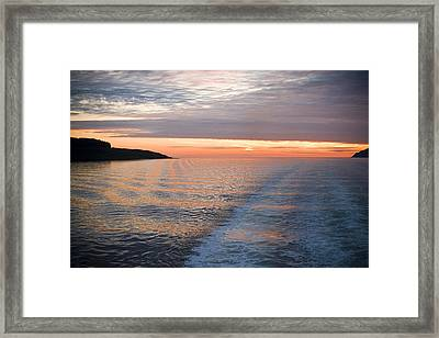 Sunset On The Sound Of Mull Framed Print