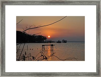 Sunset On The St. John's River Framed Print by Tiffney Heaning