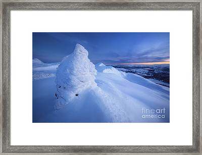 Sunset On The Summit Toviktinden Framed Print by Arild Heitmann