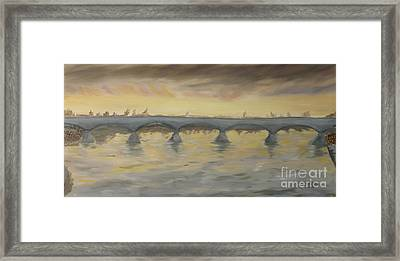 Sunset On The Ticino - Homage To Turner Framed Print by Nicla Rossini