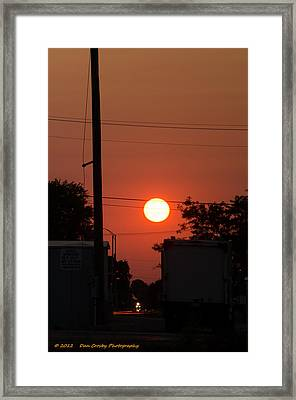 Sunset On The Up Framed Print by Dan Crosby