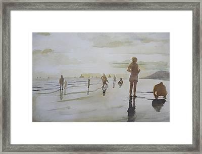 sunset on Vung Tau beach Framed Print by Vuong Anh Tuan