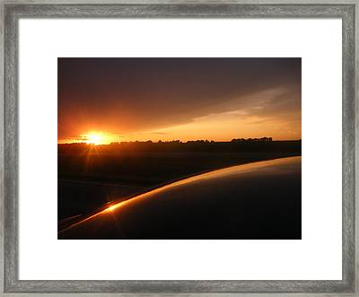 Sunset Out West Framed Print by Katy Irene