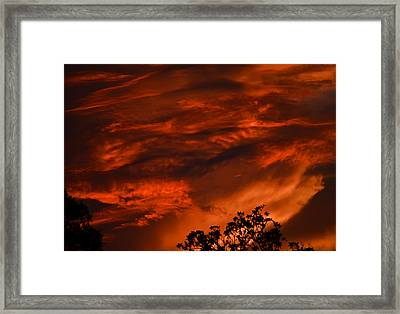 Framed Print featuring the photograph Sunset Over Altoona by DigiArt Diaries by Vicky B Fuller