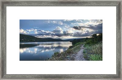 Sunset Over Barker Lake Framed Print by Noah Katz