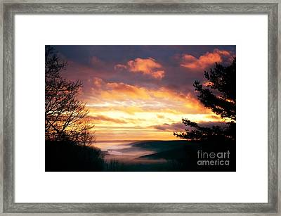 Sunset Over Barkhamsted Reservoir Framed Print