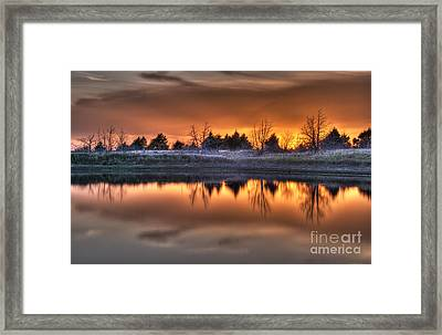 Sunset Over Bryzn Framed Print