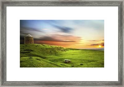 Sunset Over Burton Dassett Framed Print
