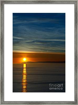 Sunset Over Catalina Framed Print