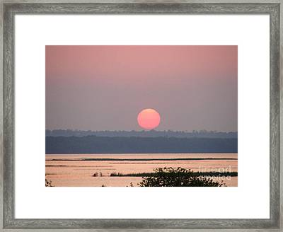 Sunset Over Cook's Bay Framed Print