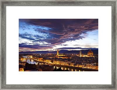 Sunset Over Florence Framed Print by Brian Jannsen