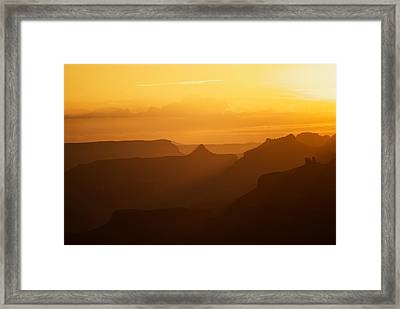Sunset Over Grand Canyon Framed Print by C Thomas Willard