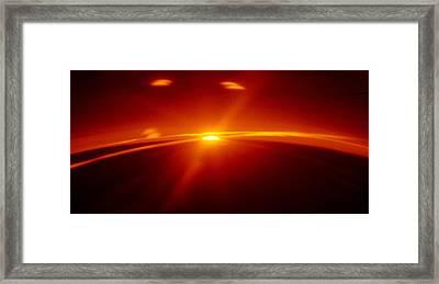 Sunset Over Greenland Framed Print by Noah Brooks