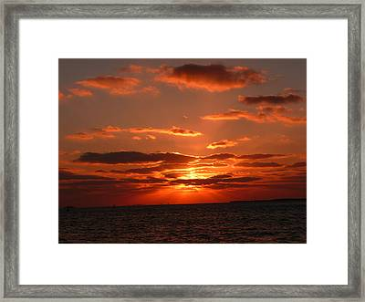 Sunset Over Key West Framed Print