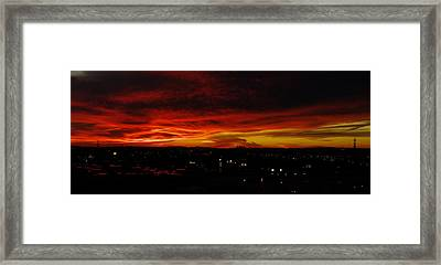 Sunset Over L.a. Framed Print by Mike Herdering