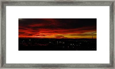 Sunset Over L.a. Framed Print