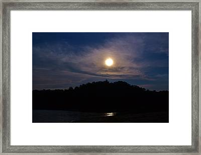 Sunset Over Lake Lanier Ga Framed Print by Marc Mesa