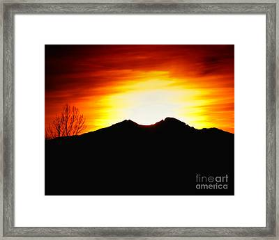 Sunset Over Longs Peak Framed Print by Harry Strharsky